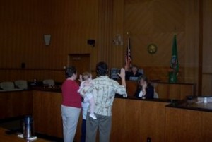 Adopting Kaylen Courtroom