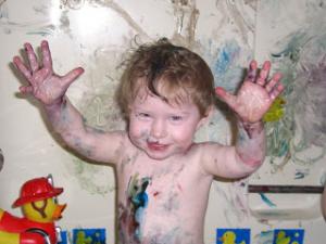 Kaylen Painting Feb 2007